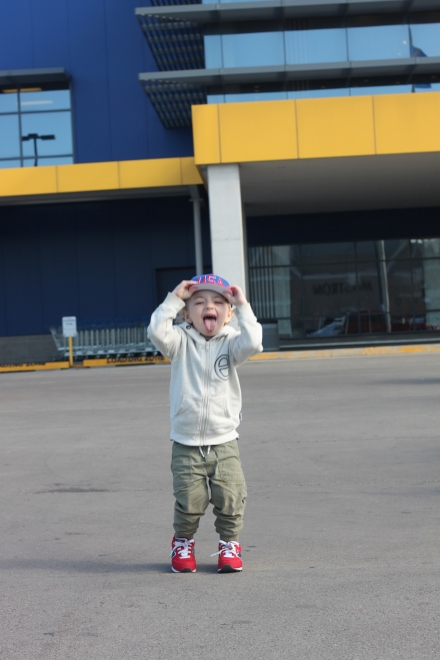 9:55 am - being goofy at IKEA
